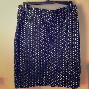 LOFT Cutout Skirt Size 10